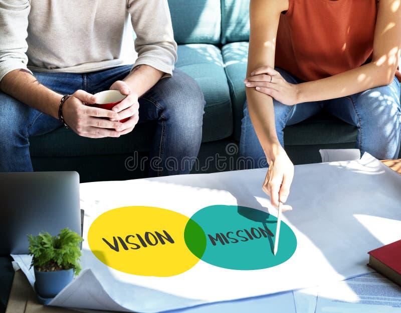 商人视觉任务计划概念 图库摄影