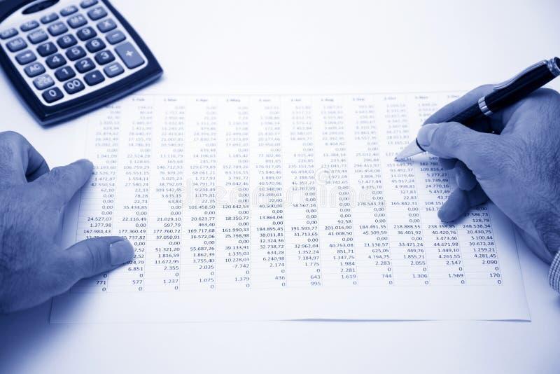 商人计算的费用 库存照片