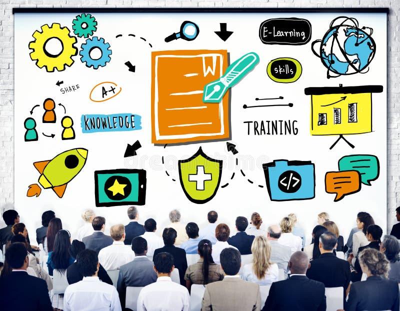 商人训练战略研讨会会议概念 免版税库存照片