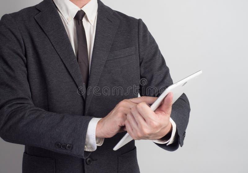 商人证实项目 在白色背景的想法事务 H 免版税图库摄影