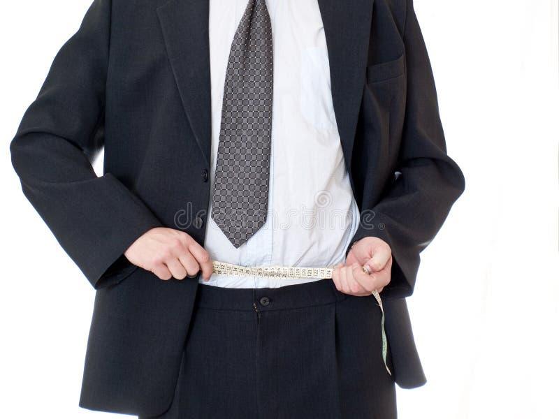 商人评定的磁带使用 免版税库存图片
