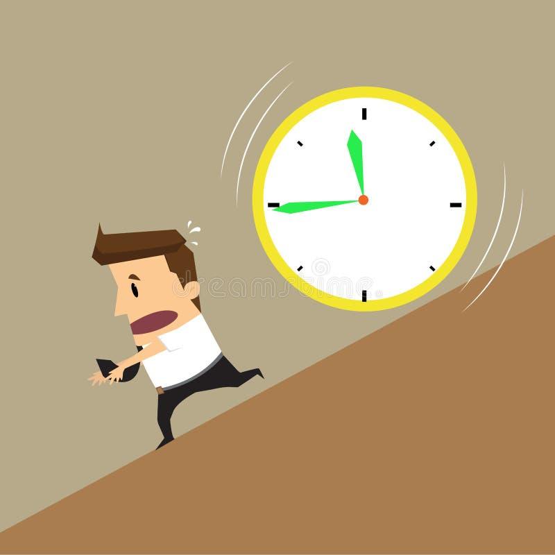 商人连续时钟攻击 向量例证
