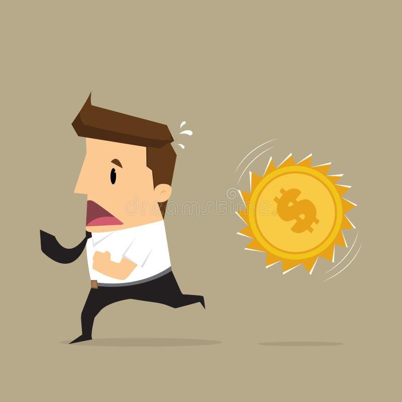 商人连续金钱攻击 向量例证