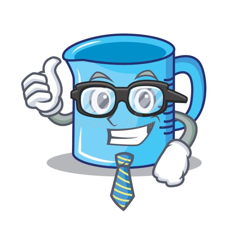 商人量杯字符动画片 向量例证