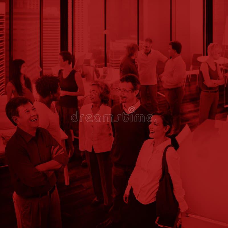 商人队配合合作合作概念 免版税库存照片