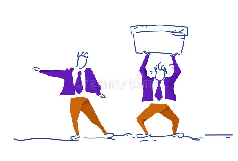 商人陈列方向人藏品水池水分平衡概念人色的剪影努力队过程 向量例证