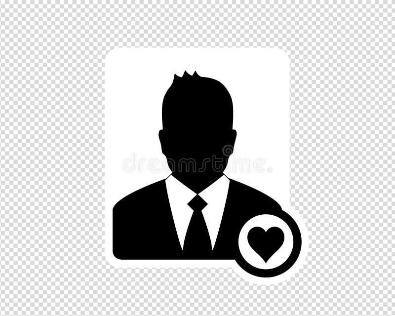 商人,喜爱的用户象,具体化象-在透明背景隔绝的传染媒介例证 库存例证