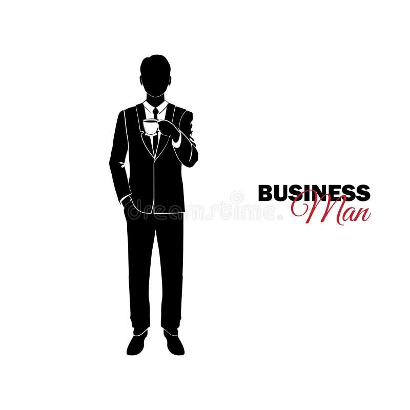 商人,经理 商人诉讼 生意人喝 向量例证