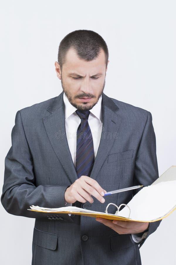 商人读书 免版税库存图片