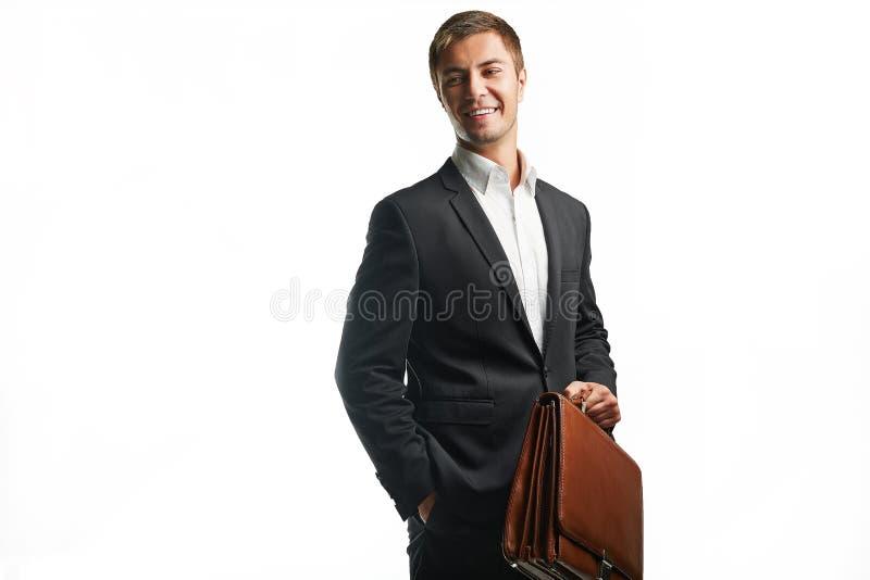 商人年轻人 免版税库存照片