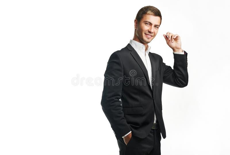 商人年轻人 免版税库存图片
