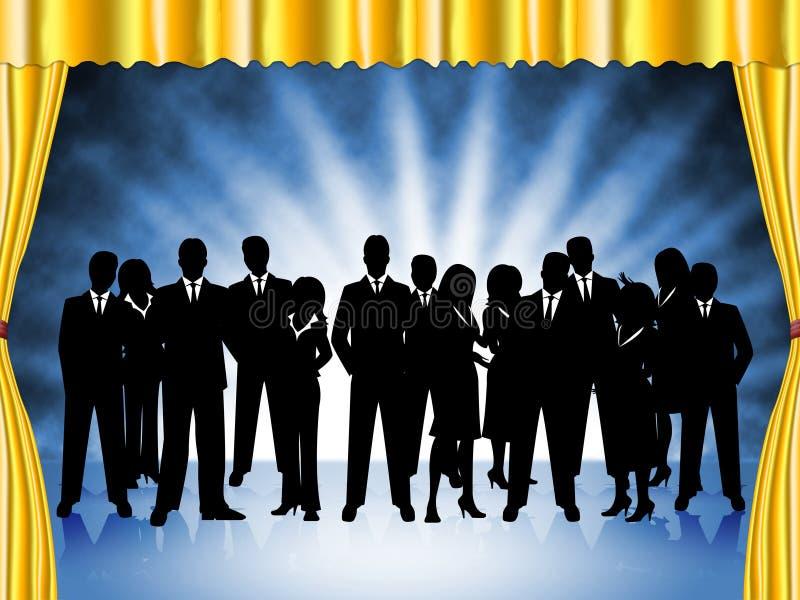 商人代表专业执行委员和队 库存例证