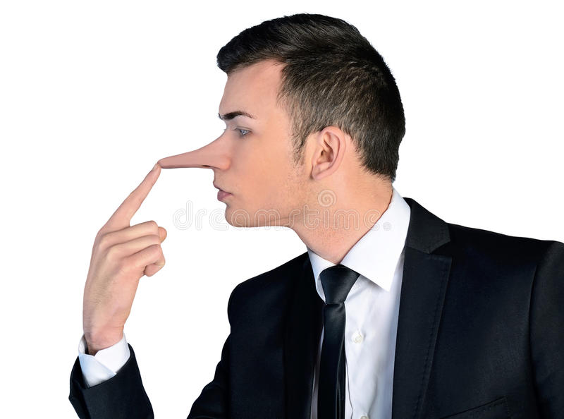 商人说谎者概念 免版税库存图片
