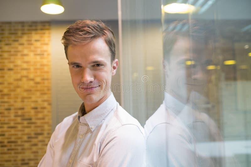 商人画象在办公室 库存图片