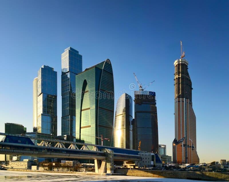 商务中心城市莫斯科 图库摄影