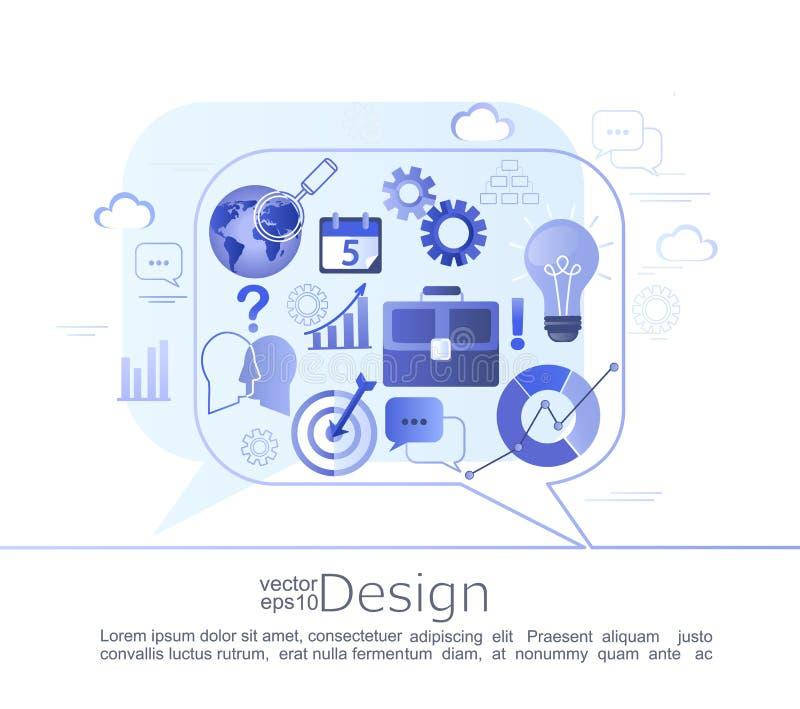 商务咨询的Infographic概念 库存例证