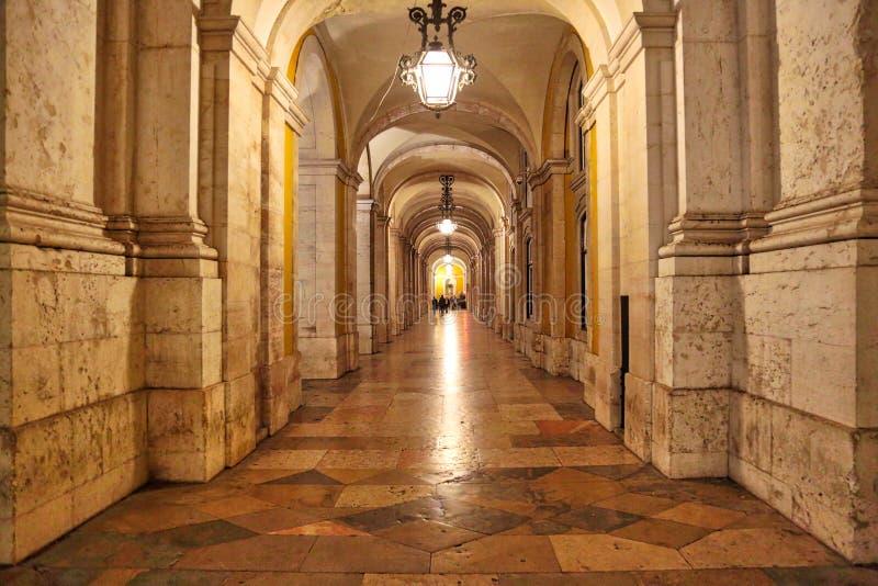 商务广场在里斯本 库存图片