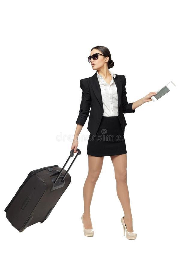 商务旅游妇女 免版税库存照片