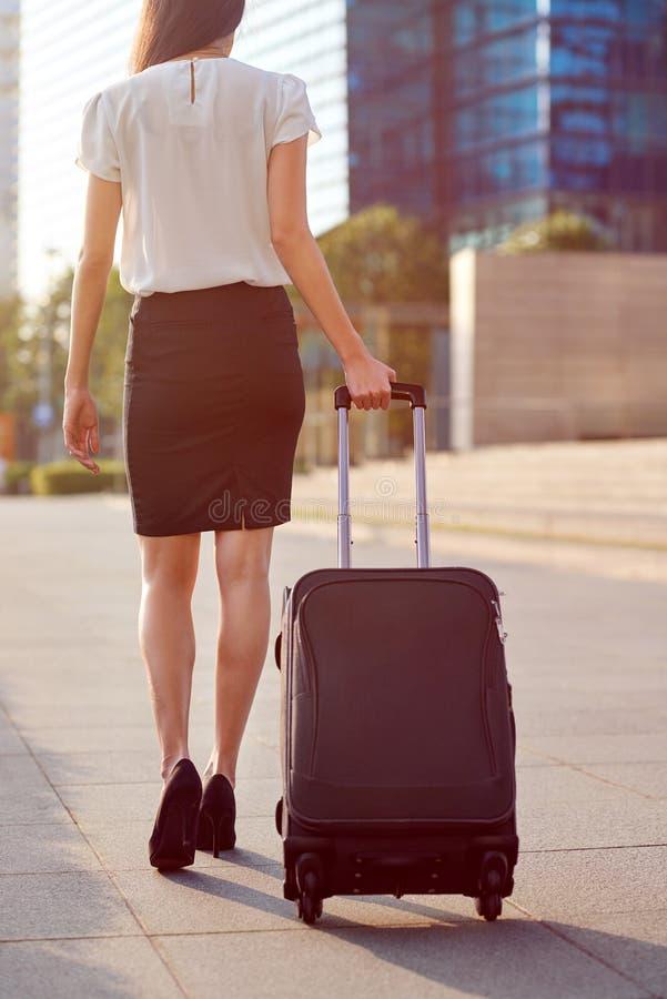 商务旅游袋子妇女 免版税库存图片