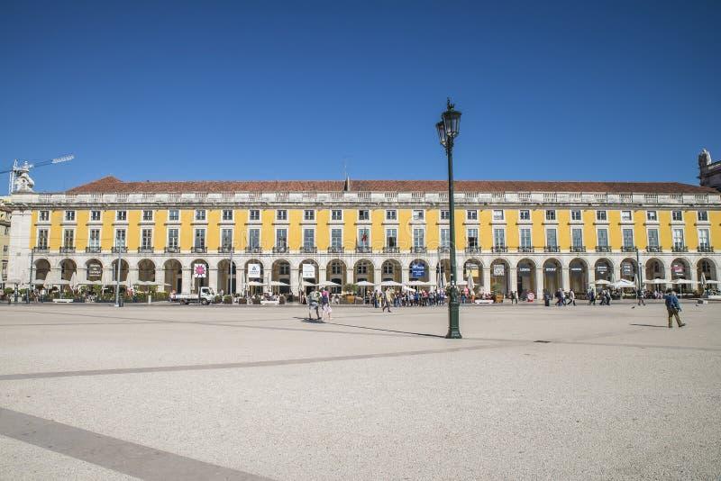 商务正方形(Praça做Comércio) 免版税库存图片