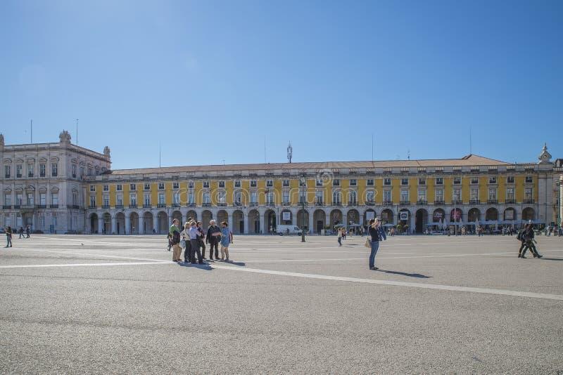 商务正方形(Praça做Comércio) 图库摄影