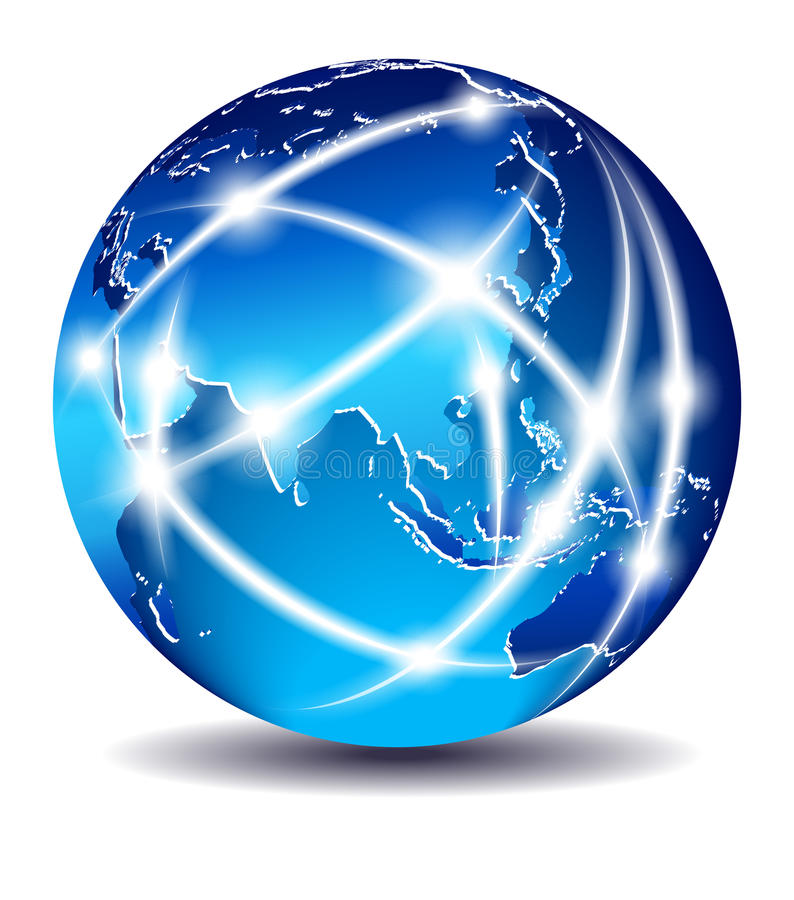 商务通信全球世界 皇族释放例证