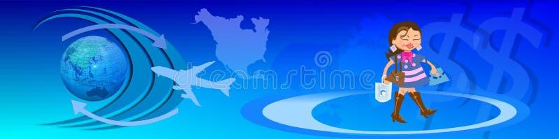 商务e业务量宽世界 免版税图库摄影
