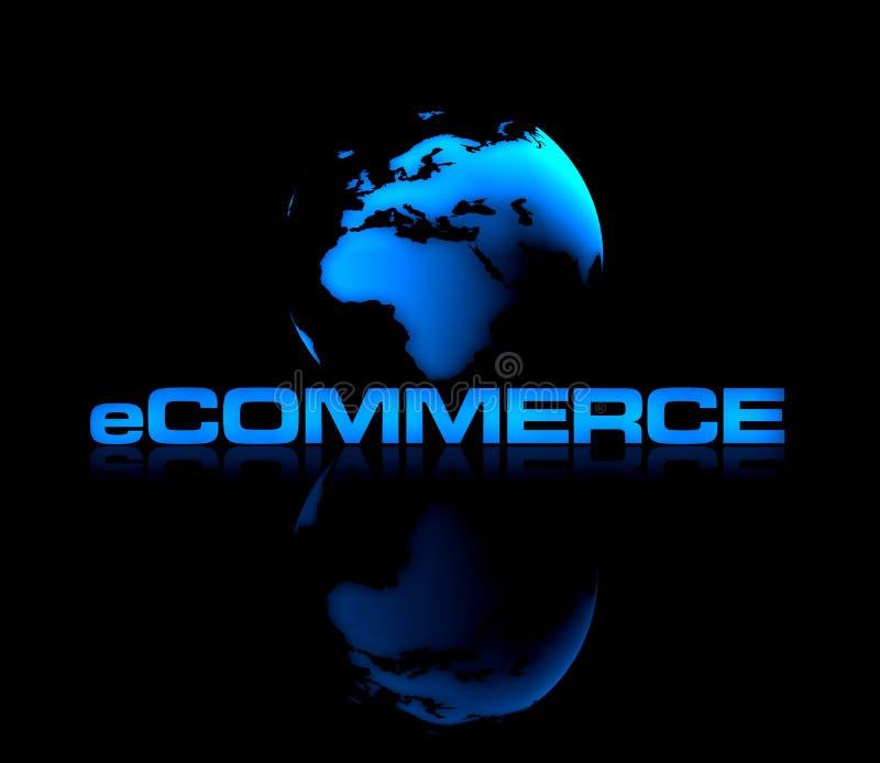 商务e 向量例证