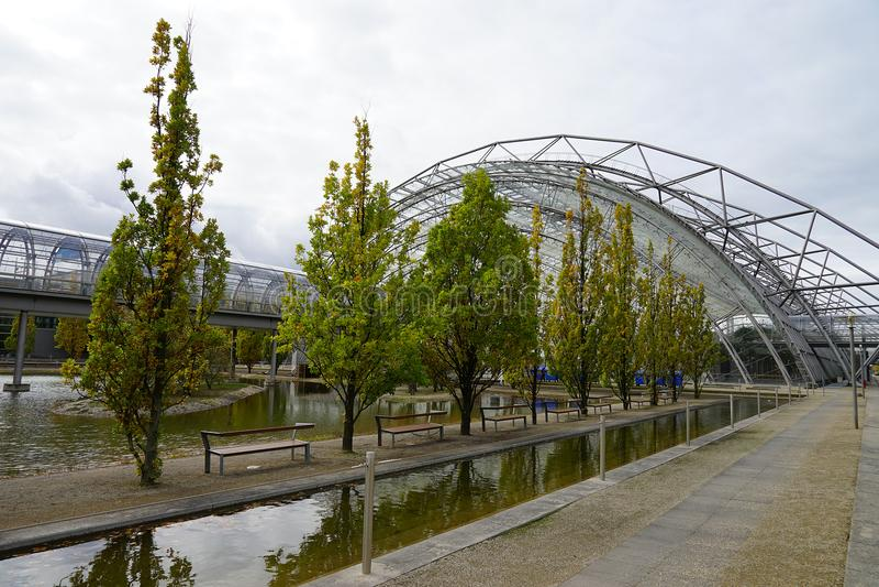 商品交易会Messe市施塔特莱比锡德国德国 图库摄影