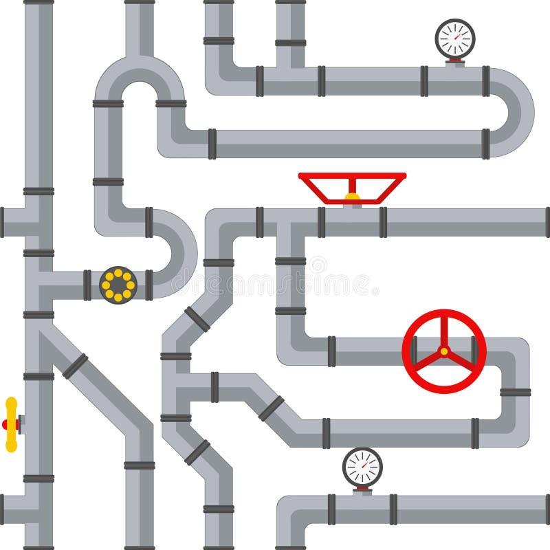 商品管道系统无缝的样式 皇族释放例证