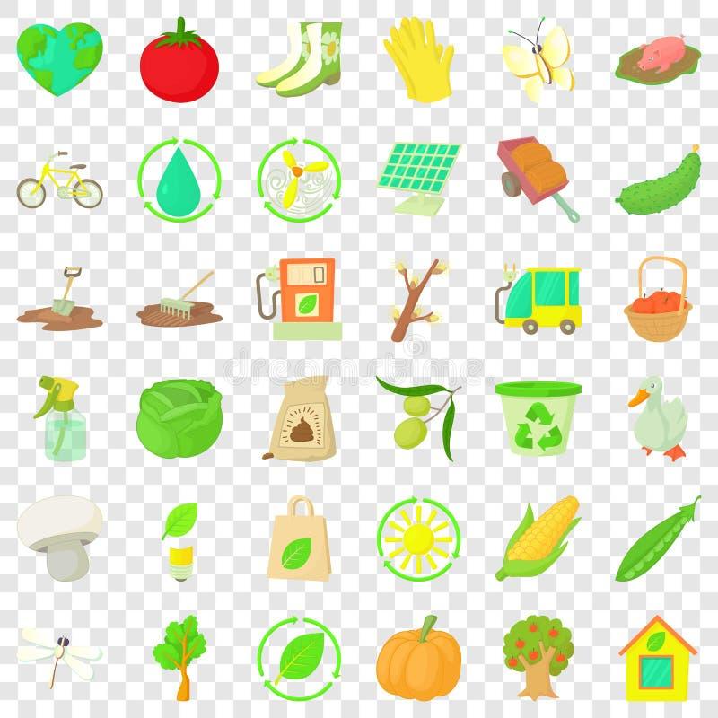 商品菜园象集合,动画片样式 向量例证