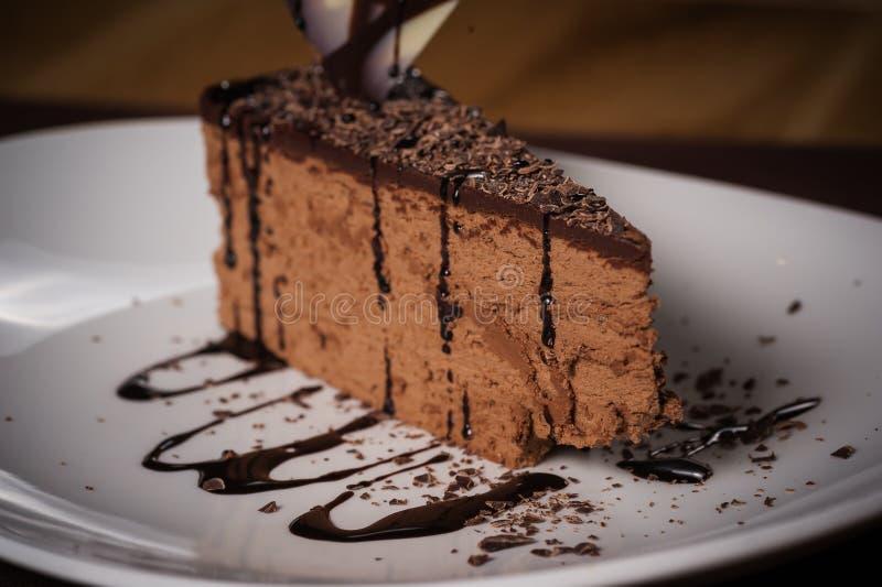 商场巧克力蛋糕 库存照片
