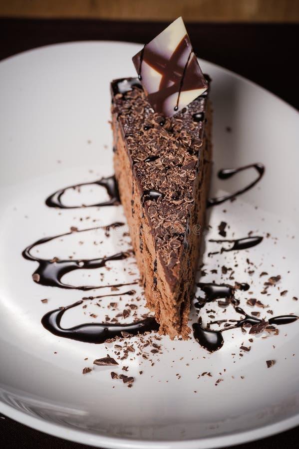 商场chokolate蛋糕 免版税库存图片