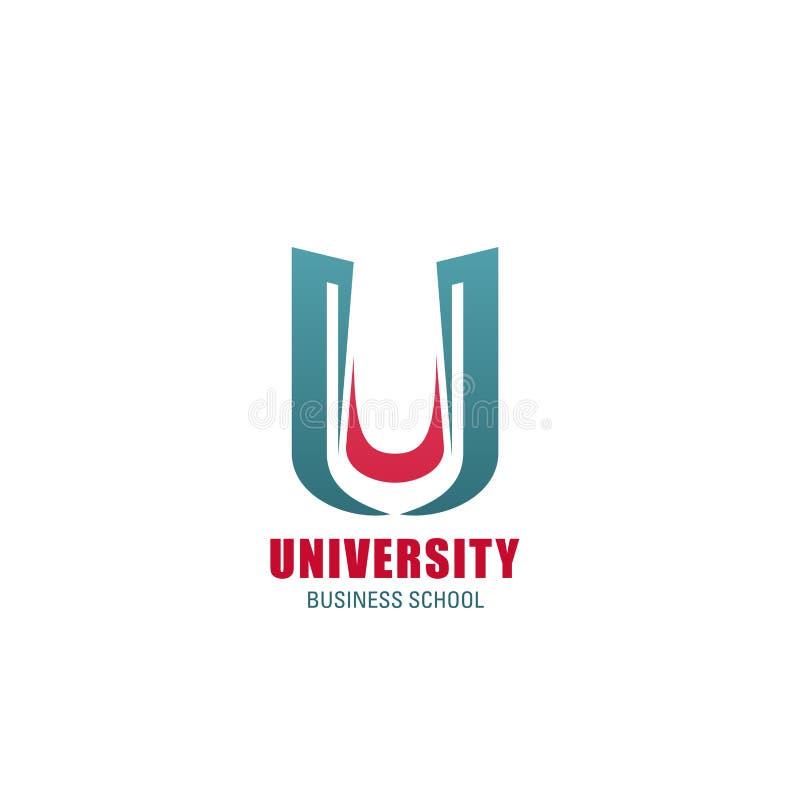 商学院象征模板大学象  皇族释放例证