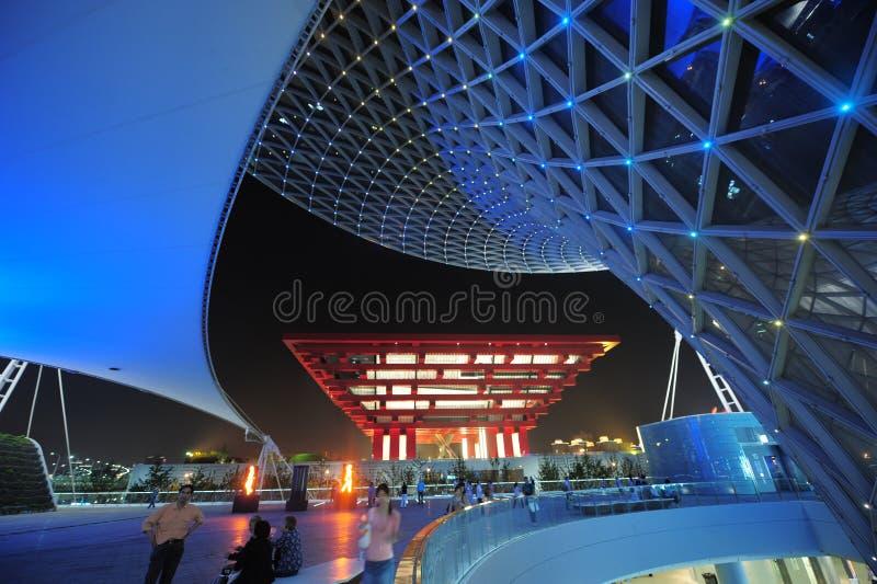 2010年商展夜景上海 库存照片