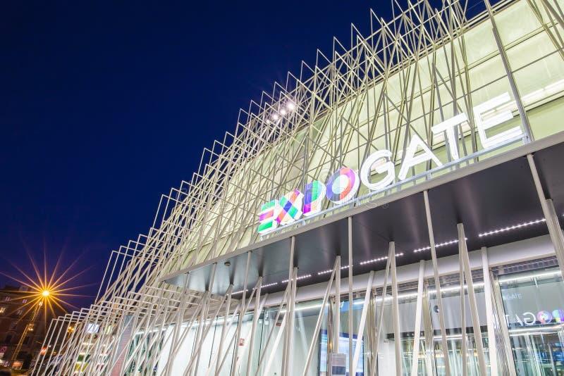 商展门2015年在米兰,意大利 免版税库存照片