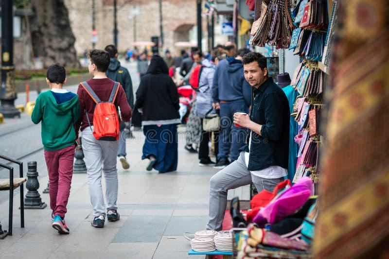 商店供营商在伊斯坦布尔,土耳其 免版税库存图片