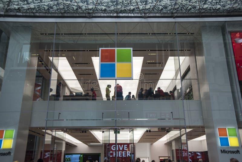 商店前面的微软 库存照片