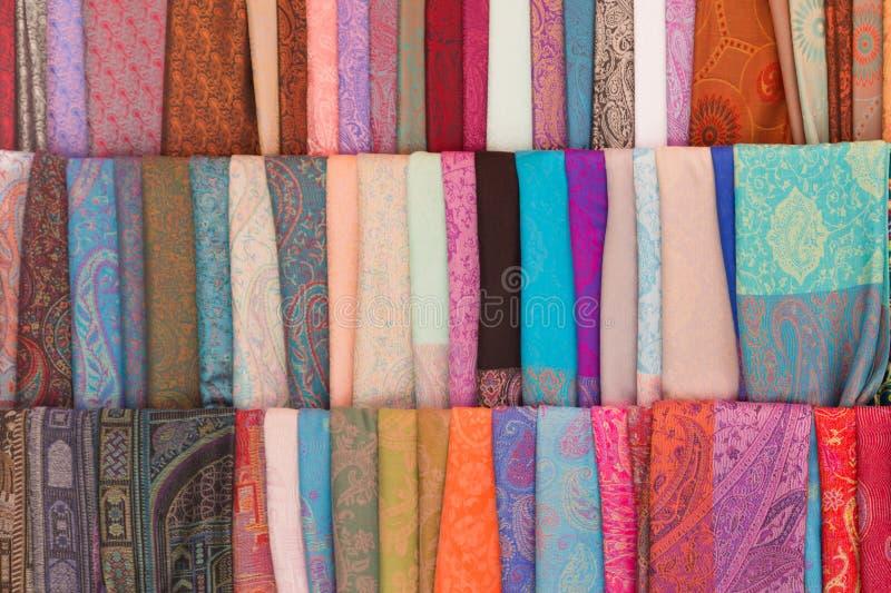 商店印地安人织品 免版税库存照片