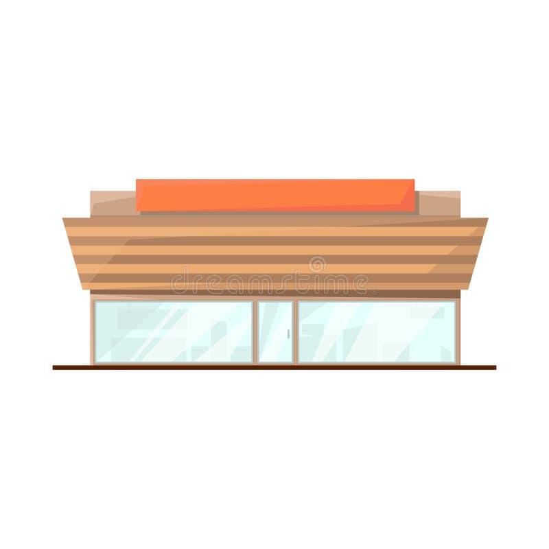 商店和大型超级市场标志被隔绝的对象  设置商店和办公室股票传染媒介例证 皇族释放例证
