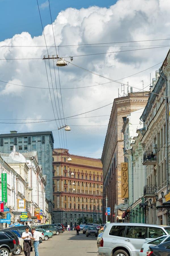 商店和Lubyanka大厦, FSB办公室 莫斯科 免版税库存图片