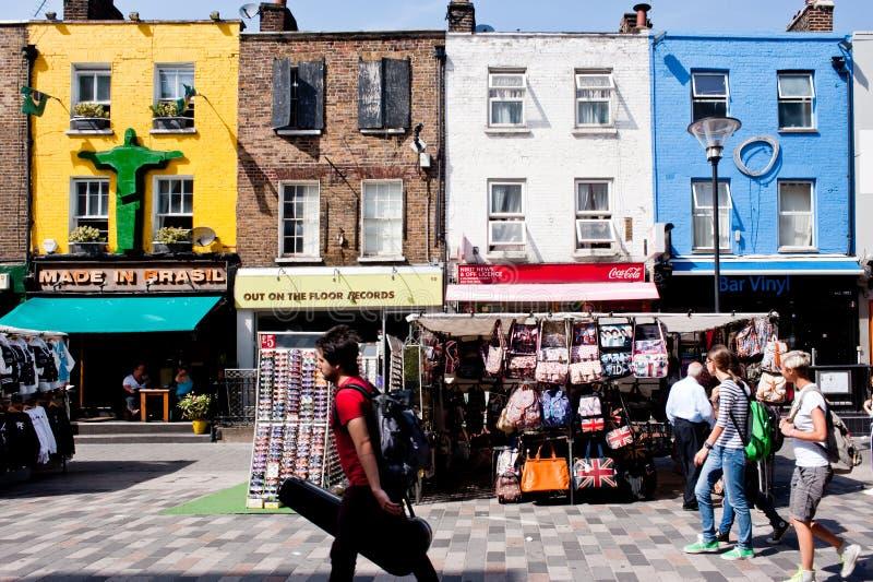 商店在坎登镇,伦敦 库存照片