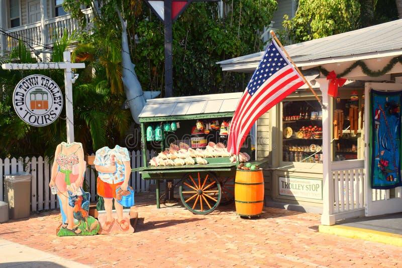商店在基韦斯特岛 库存图片