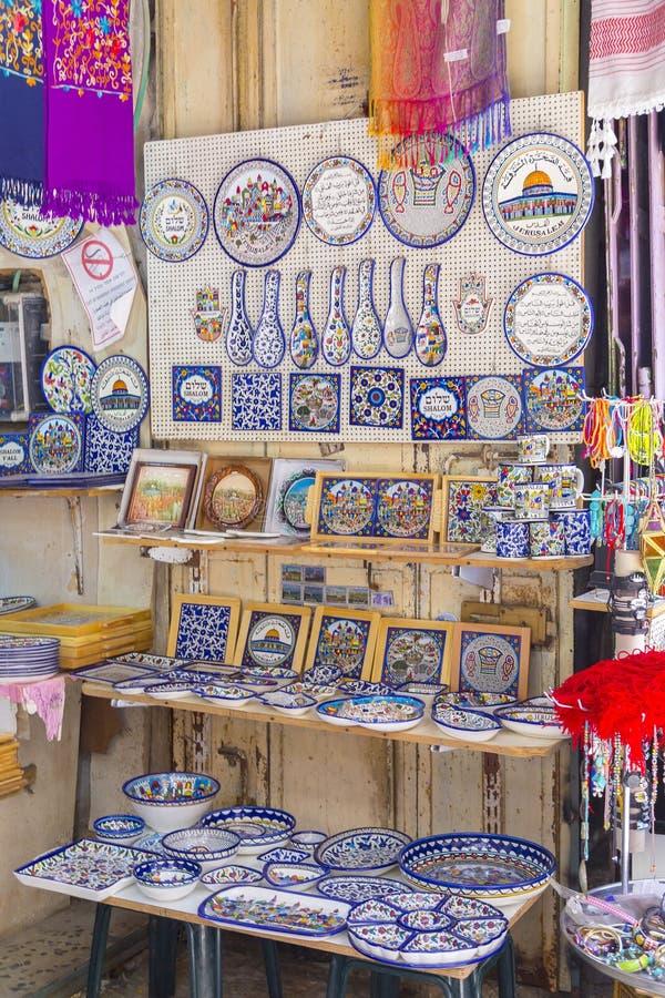 商店在老城耶路撒冷 库存图片