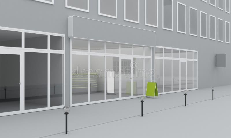 商店或办公室门面的例证 外部 库存例证