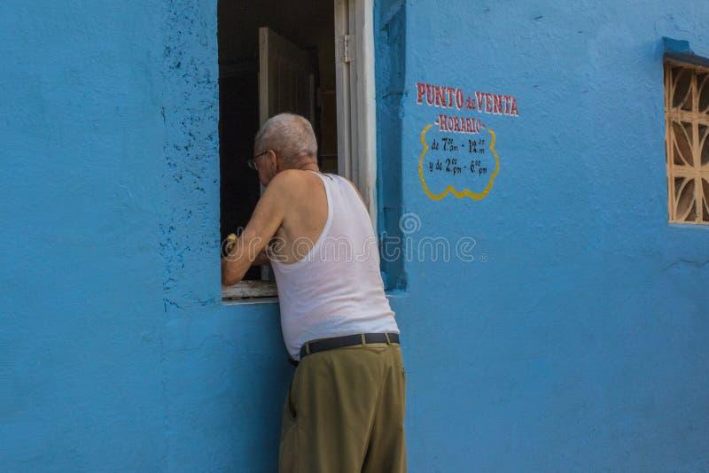 商店窗口古巴样式 图库摄影
