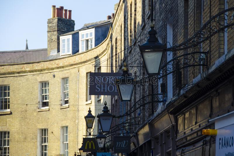 商店签到剑桥 免版税库存照片