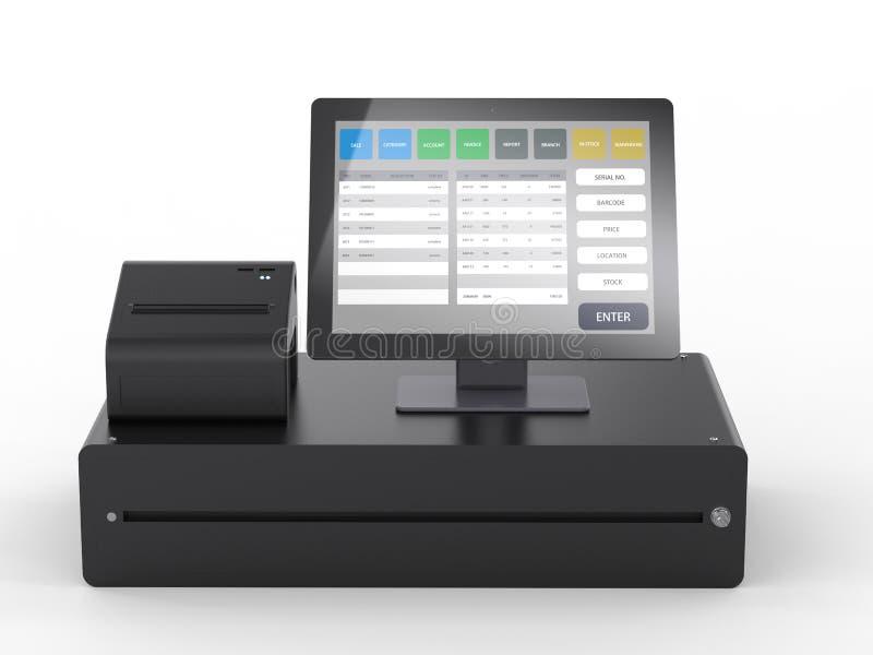 商店管理的销售点系统 库存例证