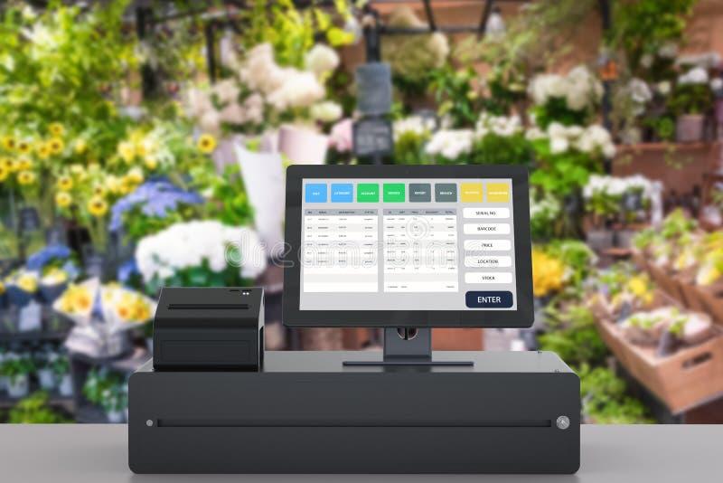 商店管理的销售点系统 皇族释放例证