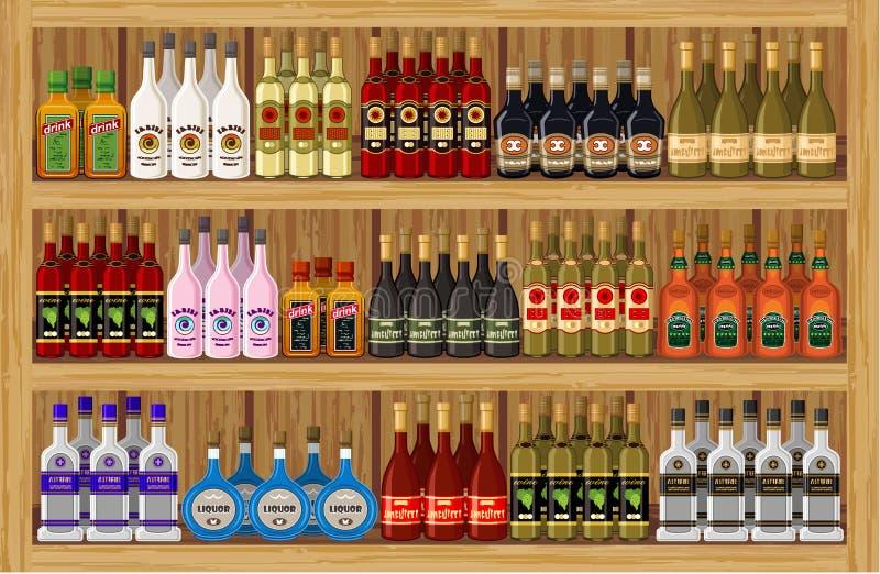 商店酒精饮料。 向量例证